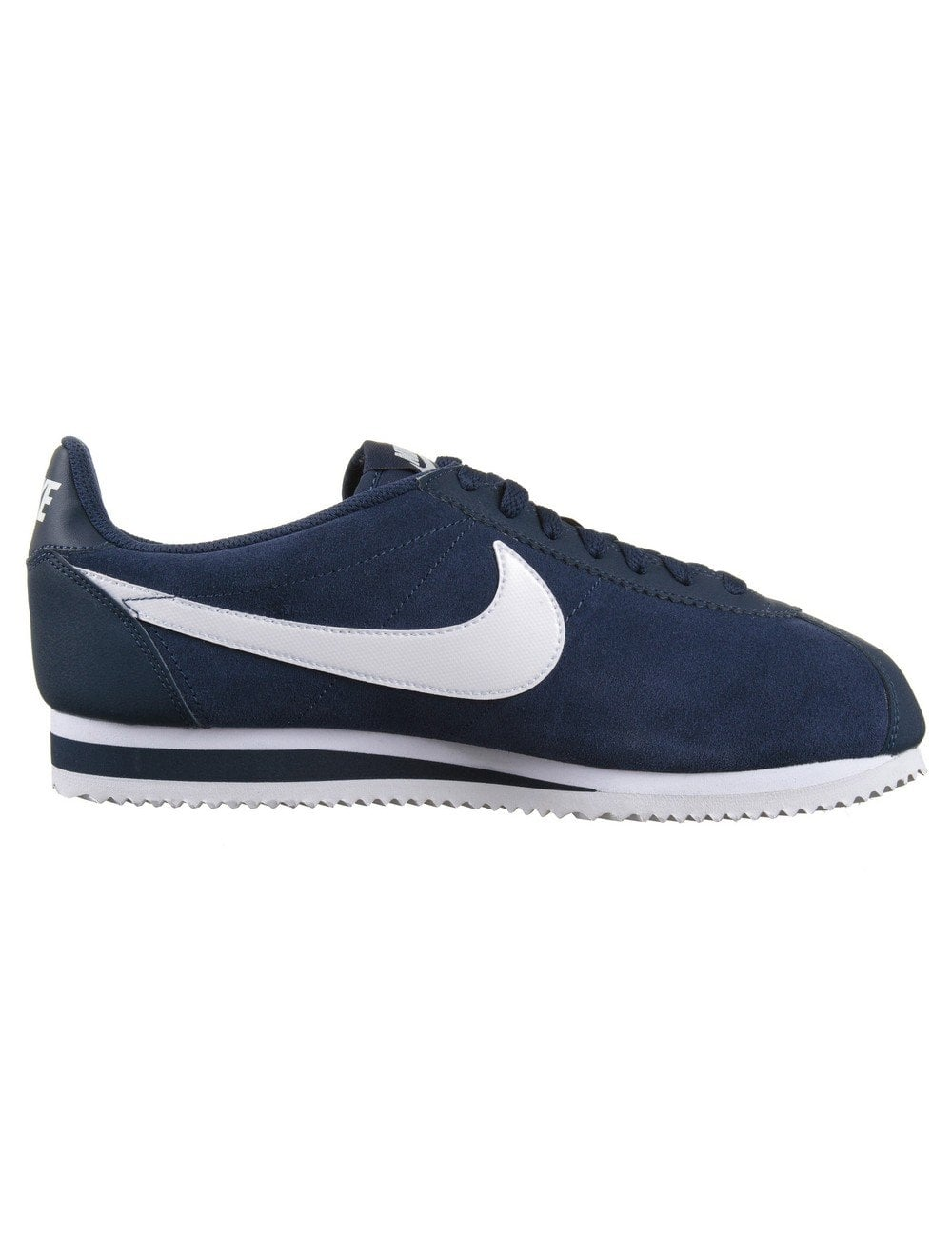 nike cortez leather shoes midnight navy white nike