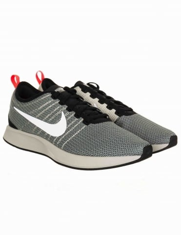 Dualtone Racer Shoes - Black/White-Pale Grey