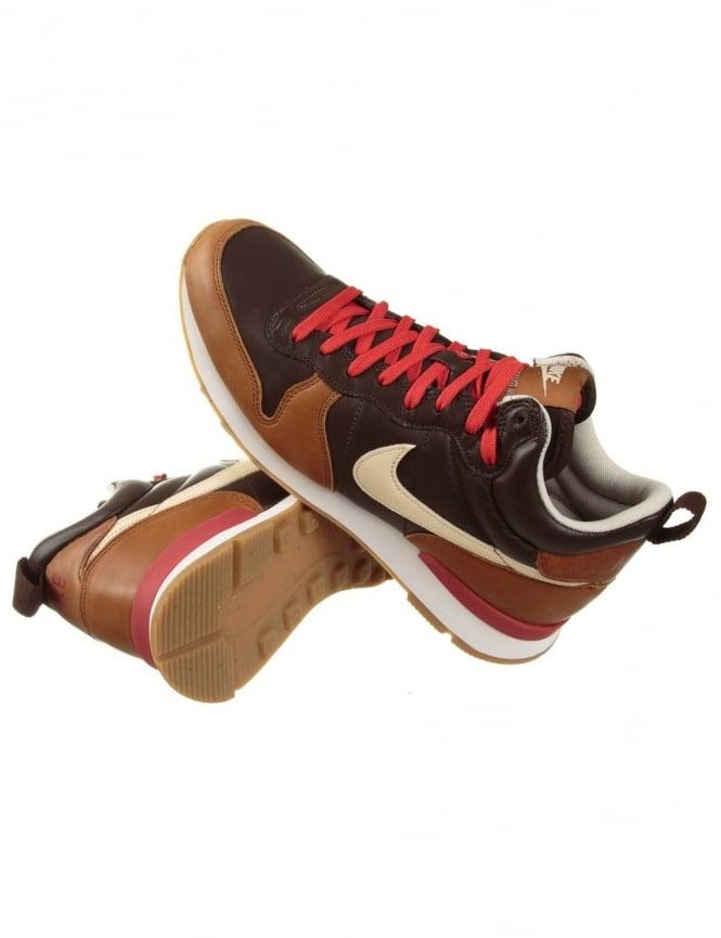 Nike Internationalist Mid Escape QS Shoes BrownRedWhite