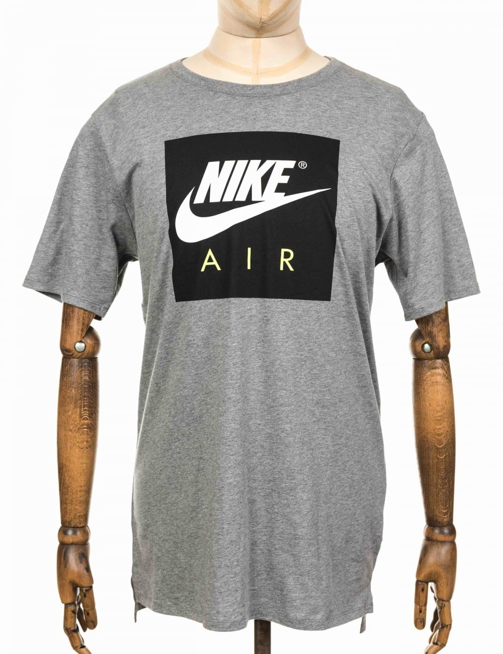 01073708 Nike NSW Air Sport Tee - Carbon Heather/White - Clothing from Fat ...