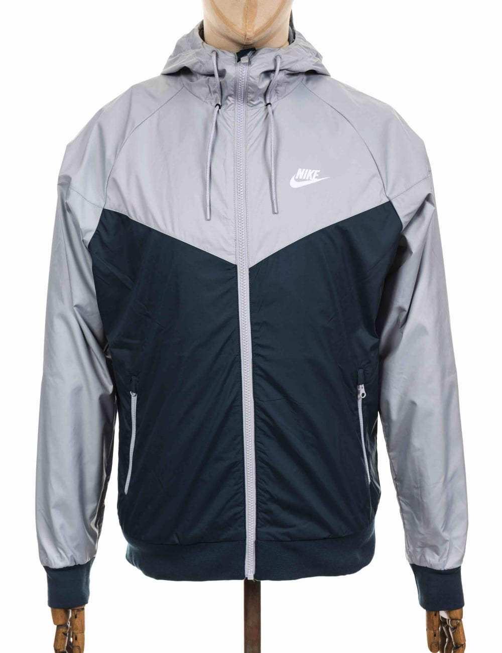 Nike NSW Windbreaker Jacket - Armory Navy Wolf Grey - Clothing from ... c027607c1