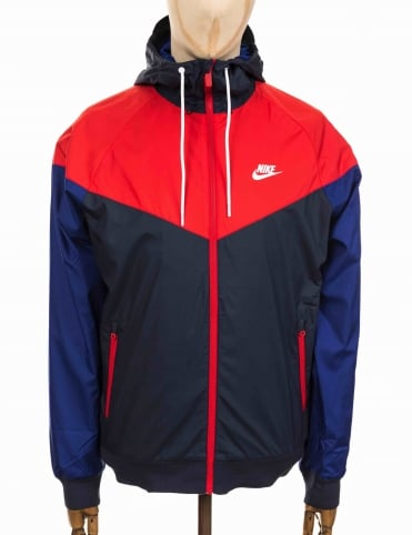 NSW Windbreaker Jacket - Obsidian/University Red