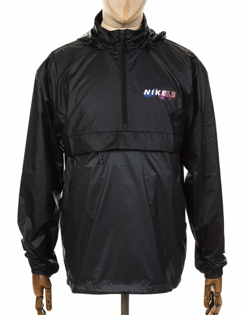 0321913e Nike SB Anorak Packable Jacket - Black/Anthracite - Clothing from ...
