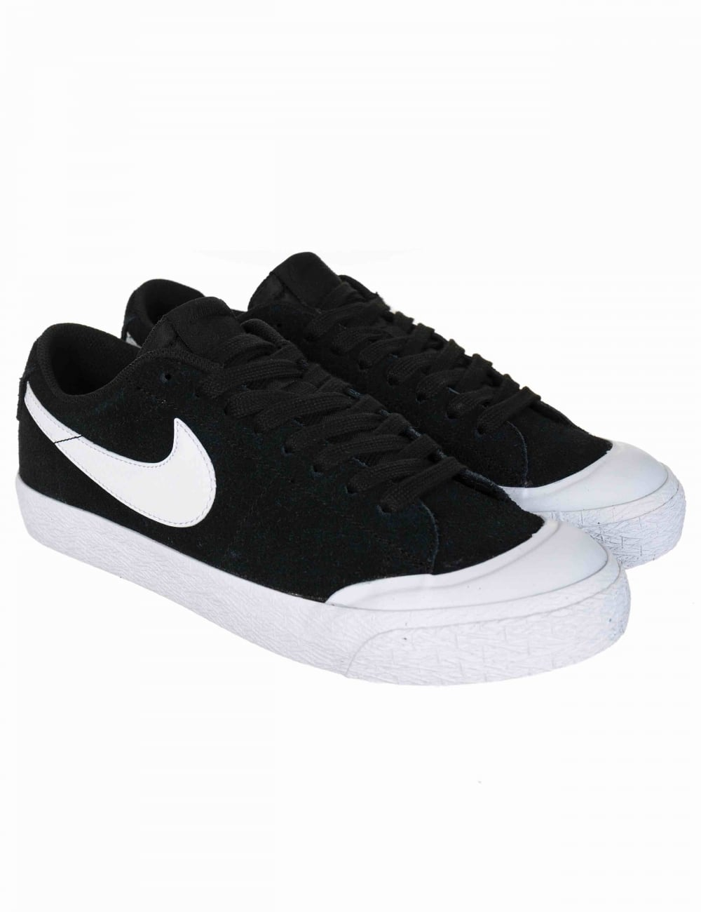 94438c5d118 Nike SB Blazer Zoom Low GT Shoes - Black White - Footwear from Fat ...