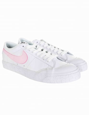 Blazer Zoom Low GT Shoes - White/Prism Pink