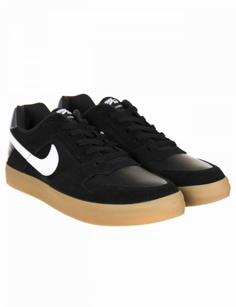 61070c6c4ab70 Nike SB Delta Force Vulc Trainers - Black/White-Gum - Footwear from ...