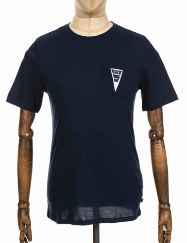 Dry Fit Triangle Pocket Logo T-shirt - Obsidian