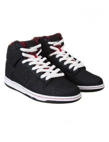 Nike SB Dunk High Premium Boots - Dark Obsidian