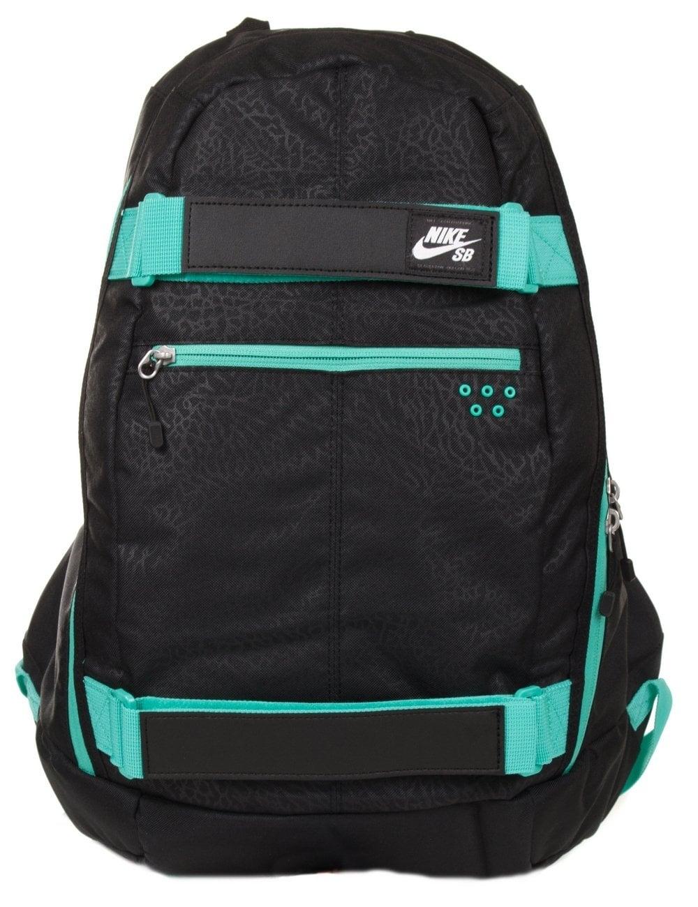 703bf36b8d72 Nike SB Embarca Backpack - Black Turq - Accessories from Fat Buddha ...