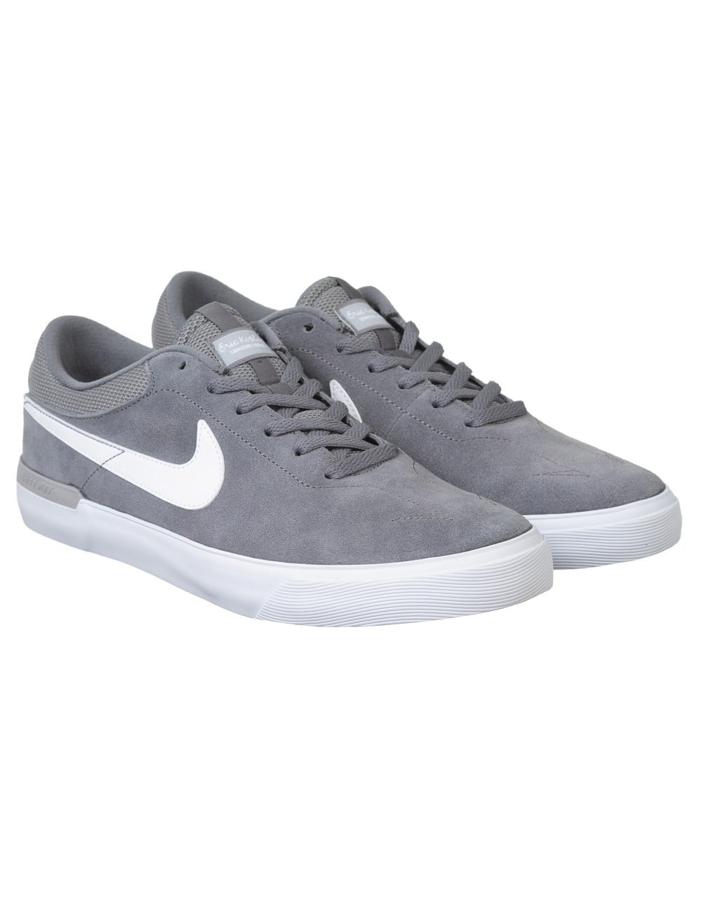 Nike SB Eric Koston Hypervulc Shoes - Cool Grey White - Footwear ... 47d250439