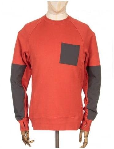 Nike SB Everett Overlay Sweatshirt - Cinnabar/Deep Pewter