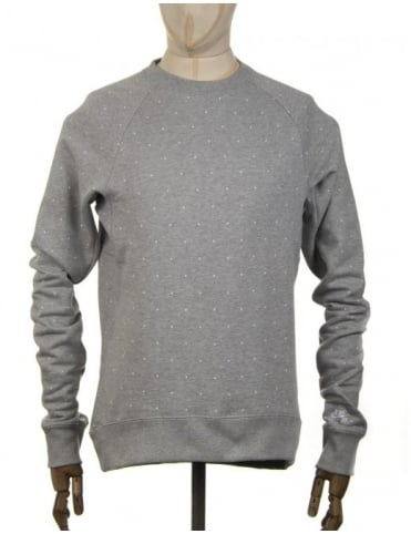 Nike SB Everett Polka Dot Sweatshirt - Heather Grey/White