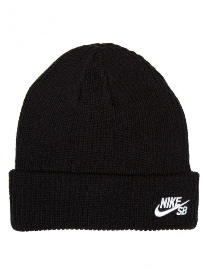 0bff04de3d9 Nike SB Fisherman Beanie Hat - Black - Accessories from Fat Buddha ...