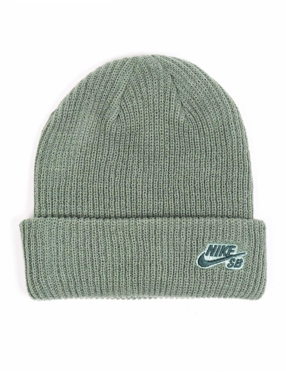 Nike SB Fisherman Beanie Hat - Clay Green - Accessories from Fat ... 4c6b10e4b2f
