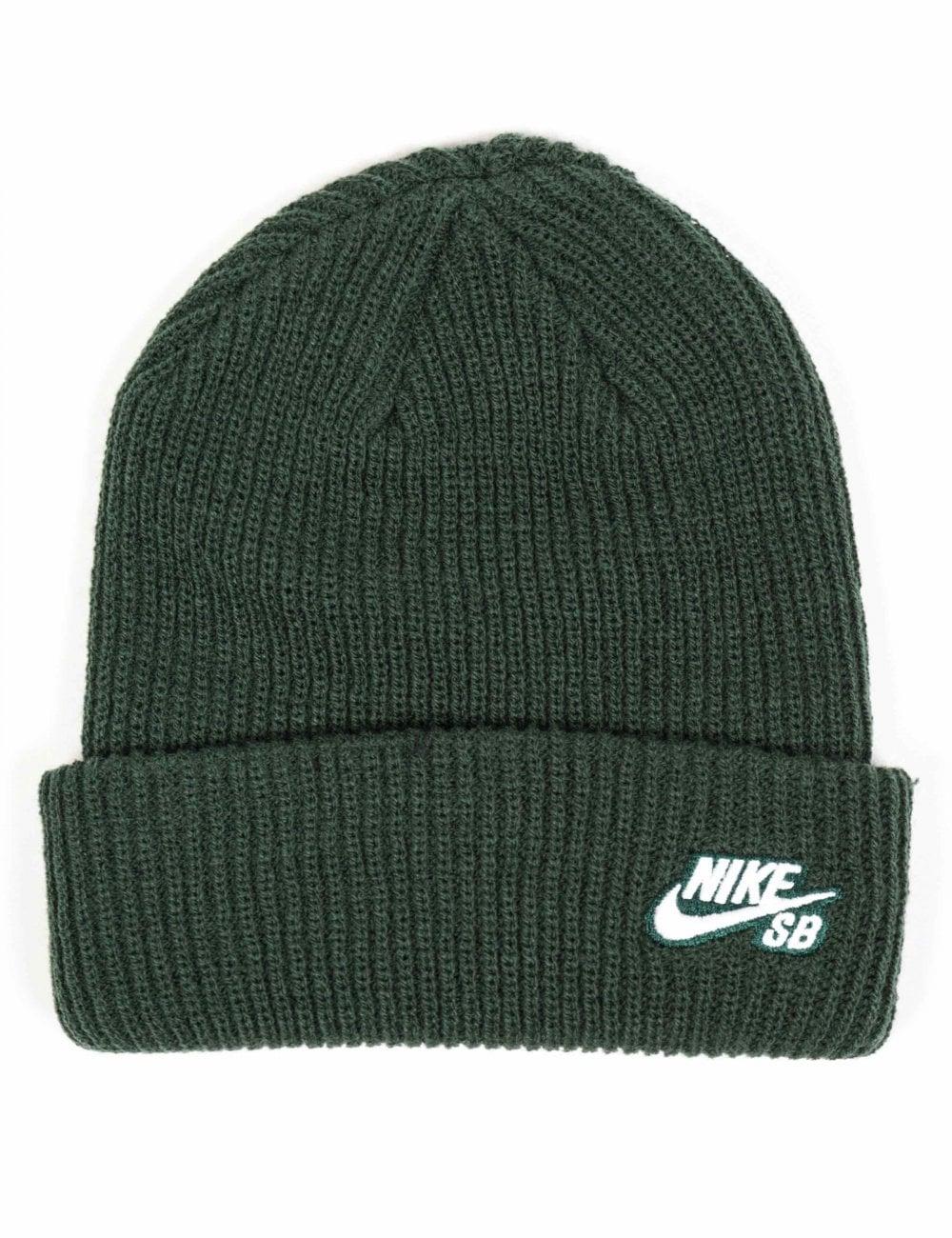2e2c40bf Nike SB Fisherman Beanie Hat - Midnight Green - Accessories from Fat ...
