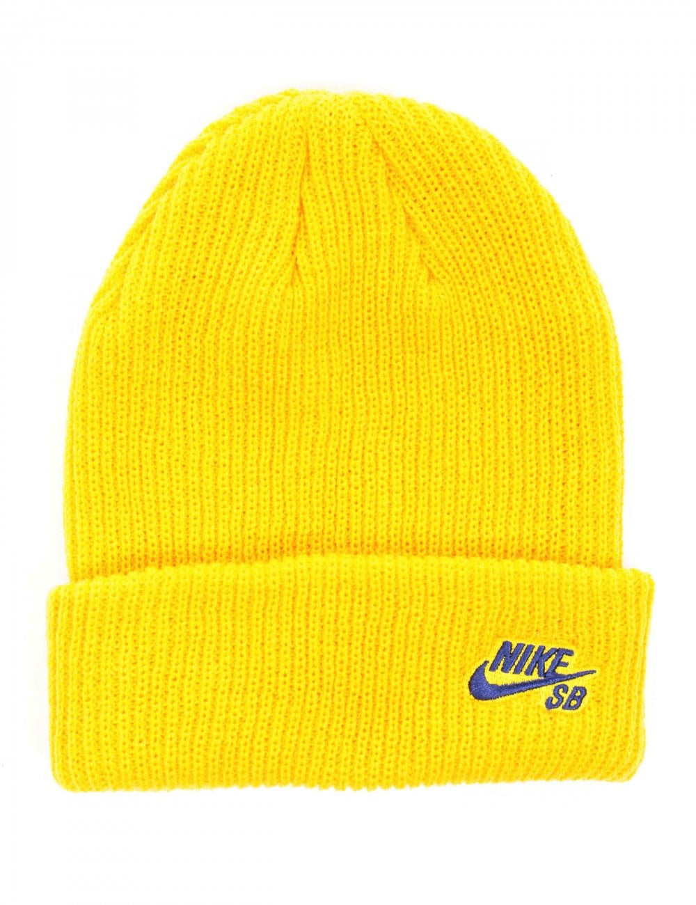 Nike SB Fisherman Beanie Hat - Yellow Ochre - Accessories from Fat ... 62f839feaab