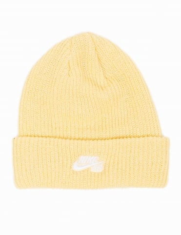Fisherman Beanie - Lemon Wash/White