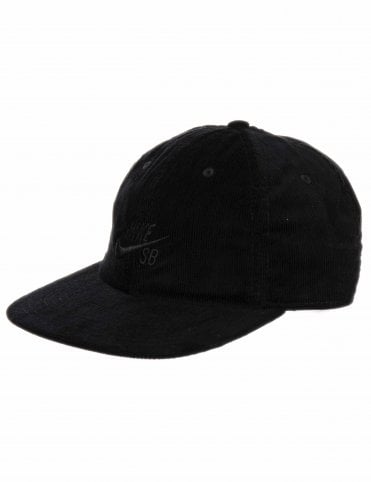 399d341c32a Nike SB Heritage 86 Flatbill Cord Cap - Black Black