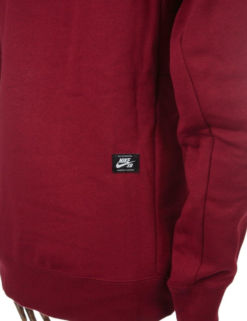 nike shox 9 large - Nike SB Icon Crewneck Sweatshirt - Team Red - Nike SB from Fat ...