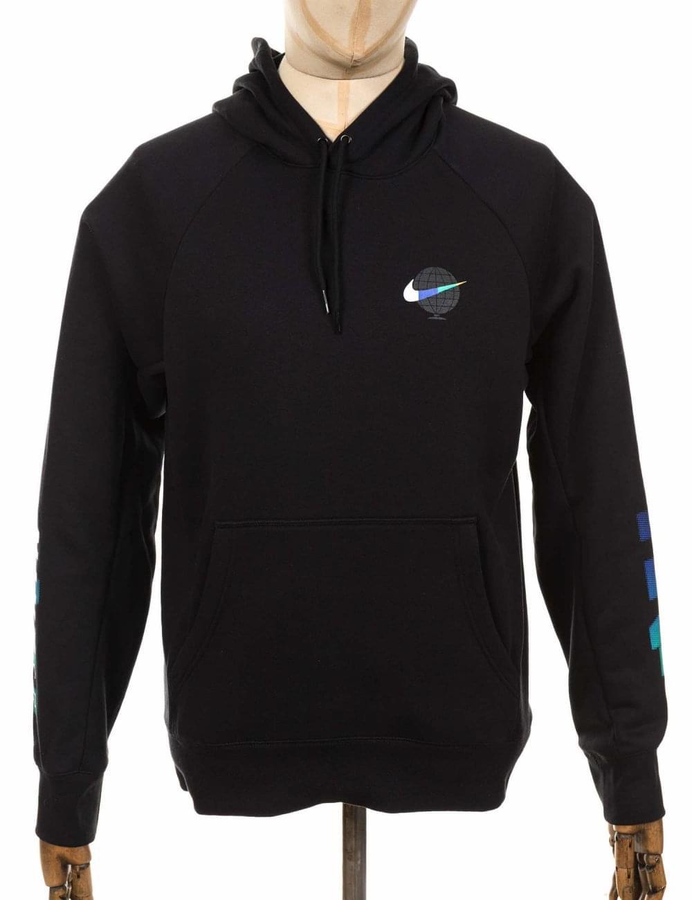 219366adc Nike SB Icon GFX Hooded Sweatshirt - Black/White - Clothing from Fat ...