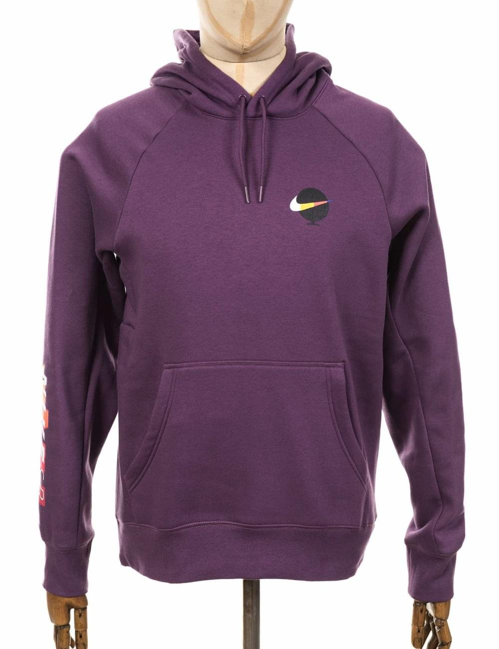 Nike SB Icon GFX Hooded Sweatshirt - Pro Purple White - Clothing ... f52423706