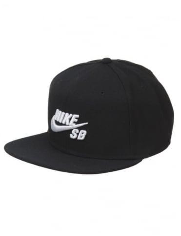 Nike SB Icon Logo Pro Snapback Hat - Black