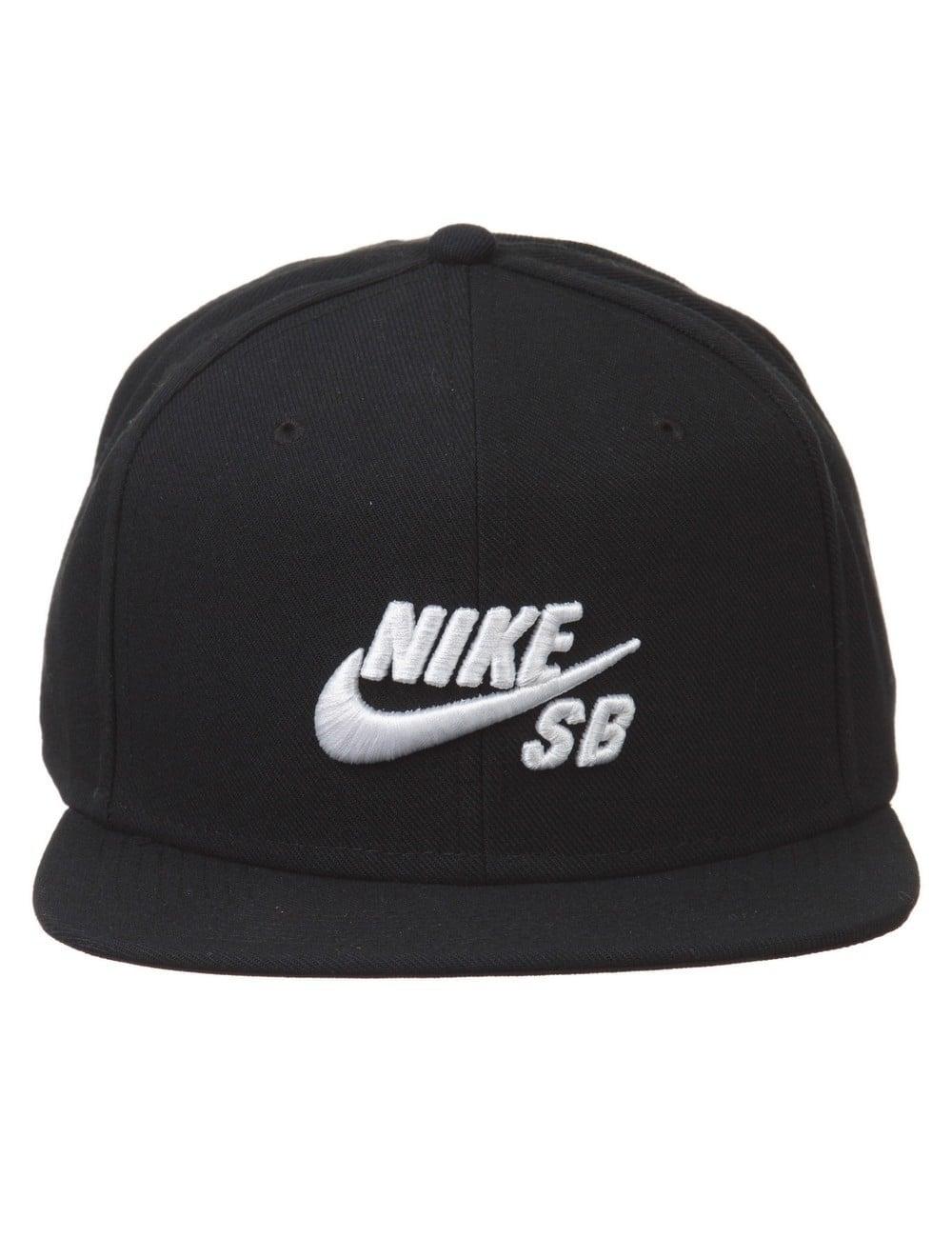 fbc15242 Nike SB Icon Logo Pro Snapback Hat - Black - Hat Shop from Fat ...