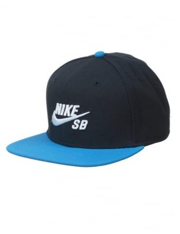 Nike SB Icon Logo Pro Snapback Hat - Dark Obsidian/Photo Blue