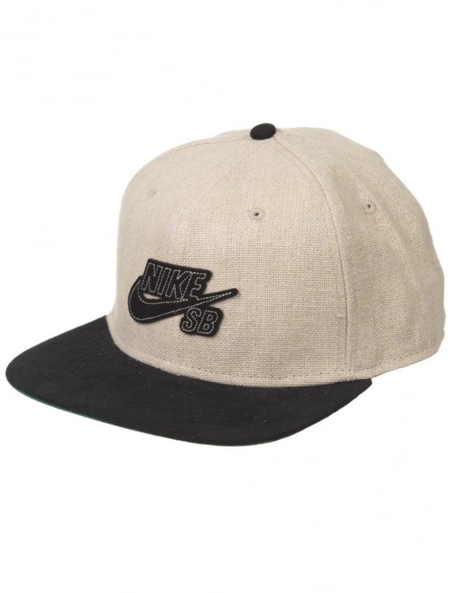cad9fd79b46 Nike SB Icon Logo Pro Snapback Hat - Hemp - Accessories from Fat ...