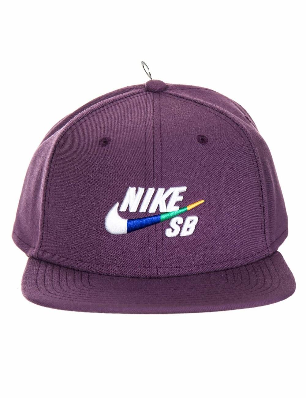 47dad08130d0 Nike SB Icon Pro Snapback Hat - Pro Purple - Hat Shop from Fat ...