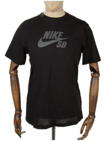 Nike SB Icon Reflective Tee - Black