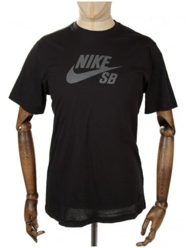 Nike SB Icon Reflective Tee - Black