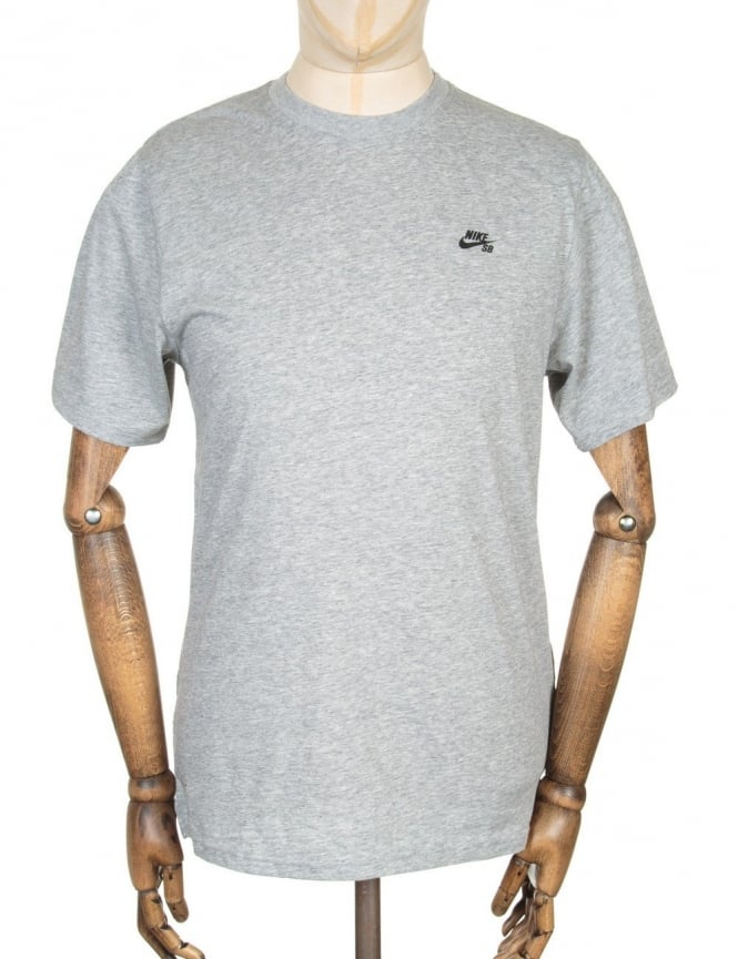 Nike SB Knit Overlay T-shirt - Dark Grey Heather