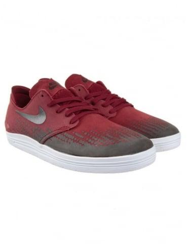 Nike SB Lunar One Shot Shoes - Team Red