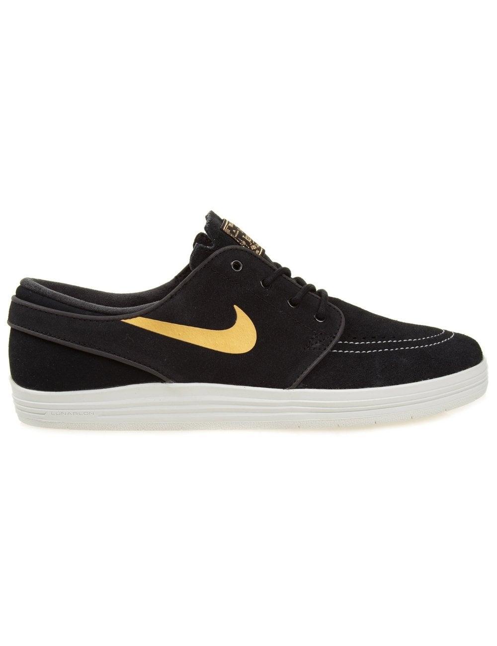 e2565cf0f8b5 Nike SB Lunar Stefan Janoski - Black Gold - Footwear from Fat Buddha ...