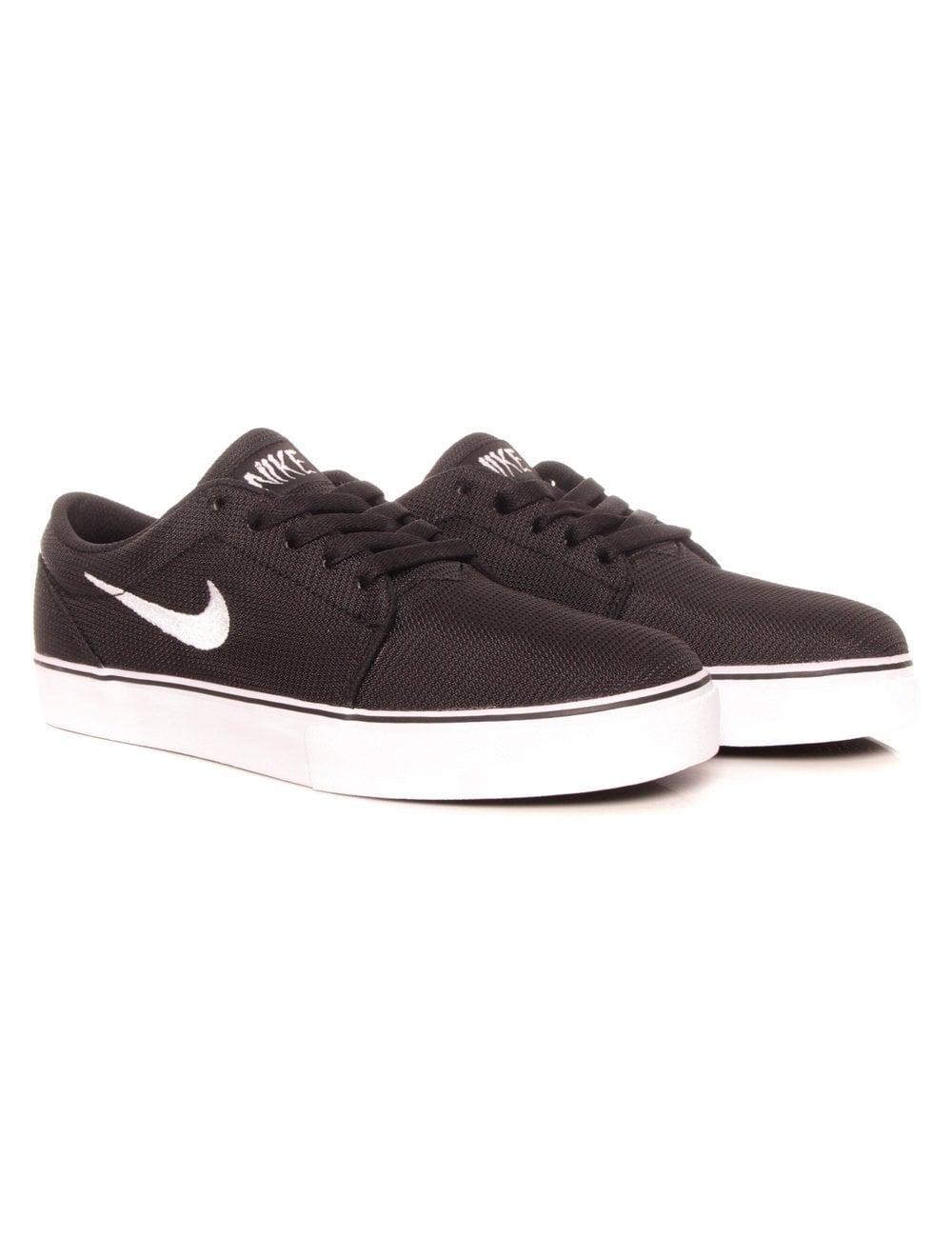 Nike Sb Satire Black White Footwear From Fat Buddha Store Uk