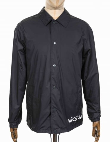 Shield Icon Quilt Jacket - Anthracite/White