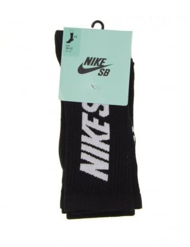 Nike SB Skate Crew Sock (3-Pk) - Black