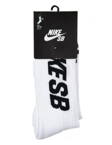 Nike SB Skate Crew Sock (3-Pk) - White