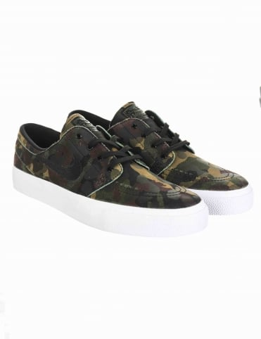 Stefan Janoski HT Shoes - White/Black (Camo Pack)