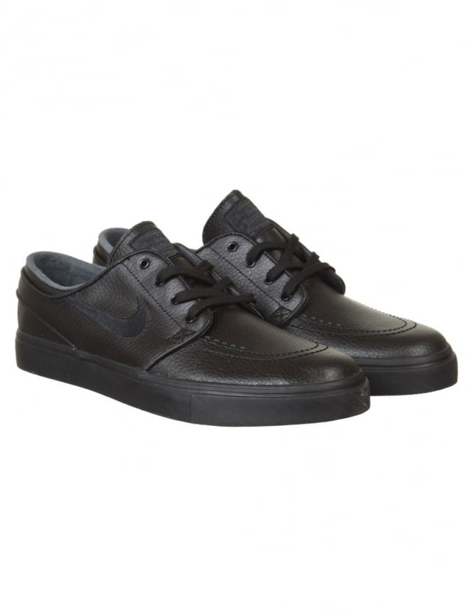 Nike SB Stefan Janoski Leather Shoes - Black/Black