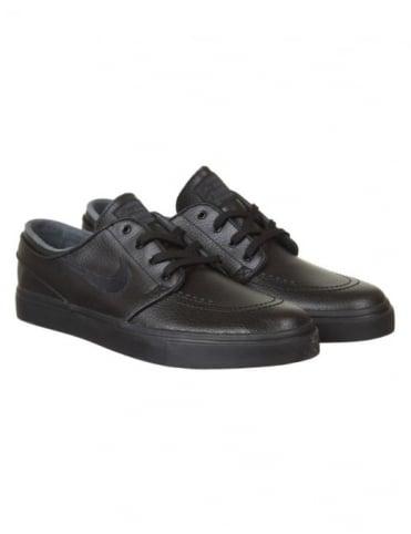 Nike SB Stefan Janoski Leather Shoes - Black/Black