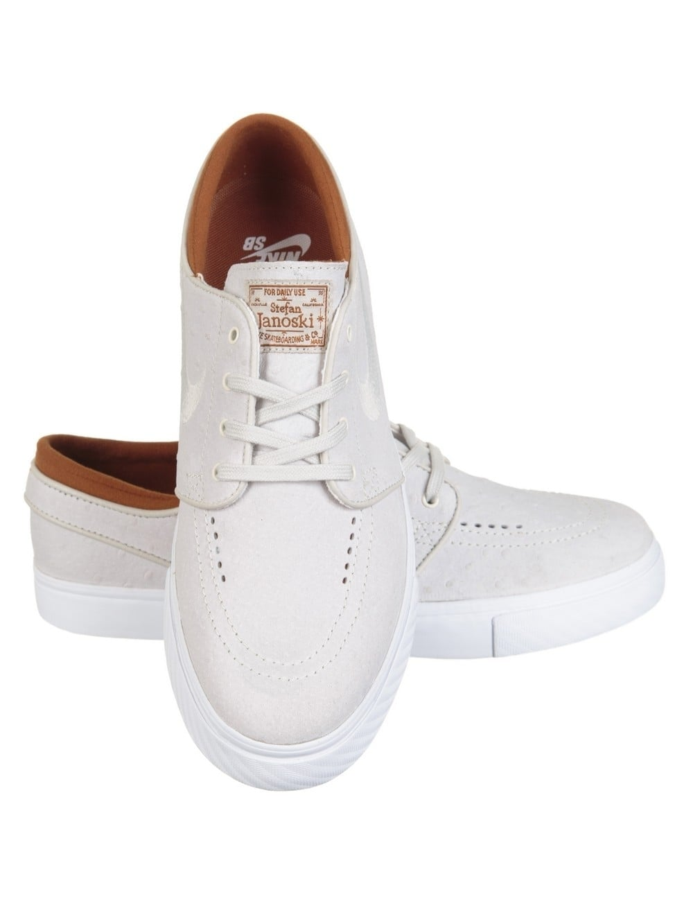 wholesale dealer d2647 12f1d Stefan Janoski Leather Shoes - Ivory Light Bone