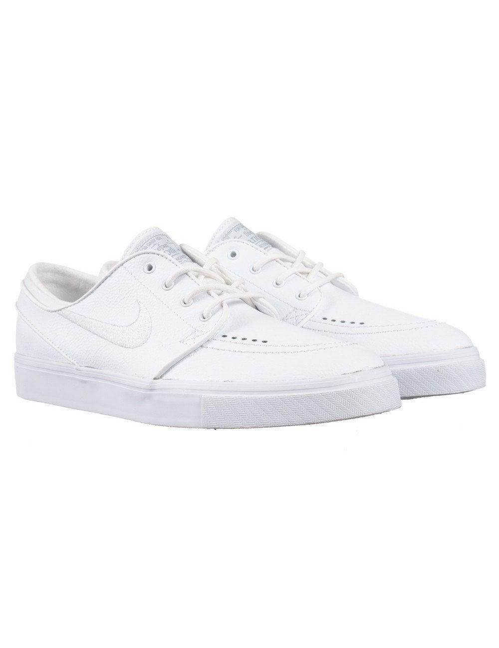 elige el más nuevo comprar popular estilo popular Nike SB Stefan Janoski Leather Shoes - White/White - Footwear from ...