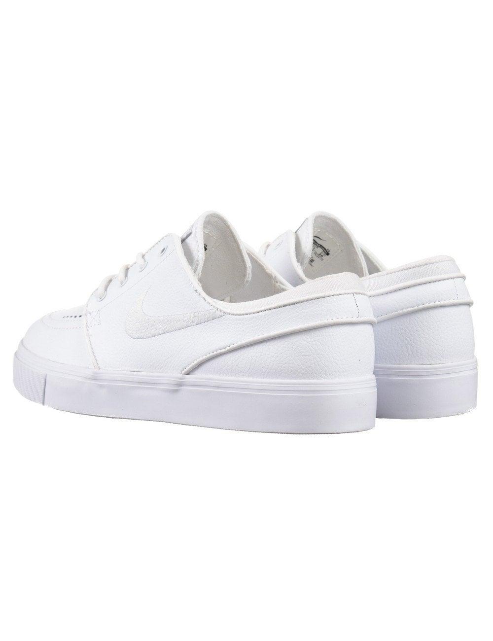 b733845280 Nike SB Stefan Janoski Leather Shoes - White/White - Footwear from ...