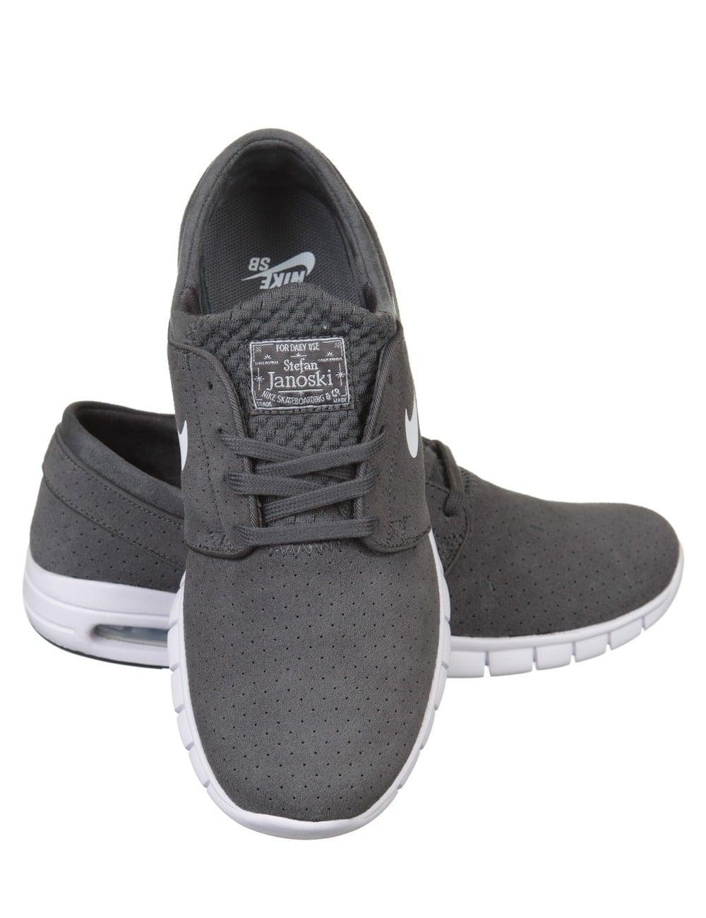 Stefan Janoski Max L Shoe - Dark Grey/White