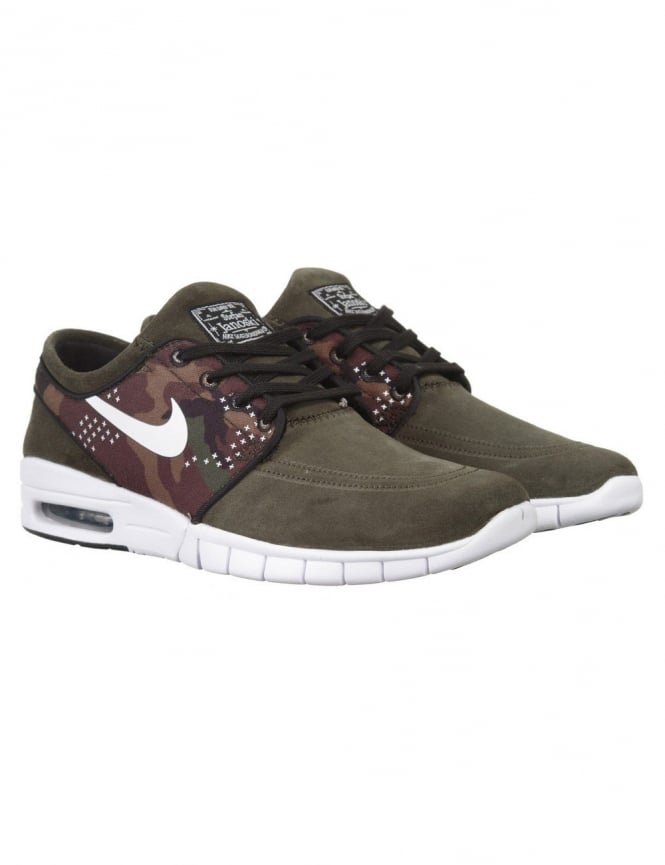 Nike SB Stefan Janoski Max L Shoe - Sequoia White - Footwear from ... df64477810ba