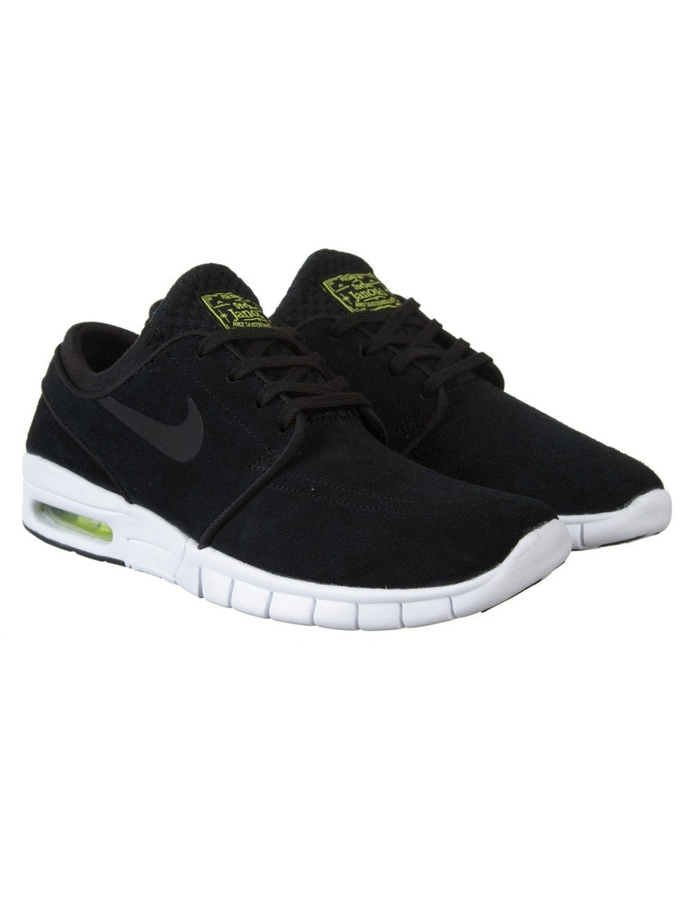 sale retailer 1bcfd d3a1e Nike SB Stefan Janoski Max L Shoes - Blk Blk Wht