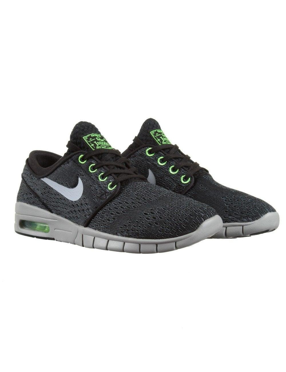 Sacrificio demasiado Pirata  Nike SB Stefan Janoski Max Shoes - Black/Wolf Grey - Footwear from Fat  Buddha Store UK