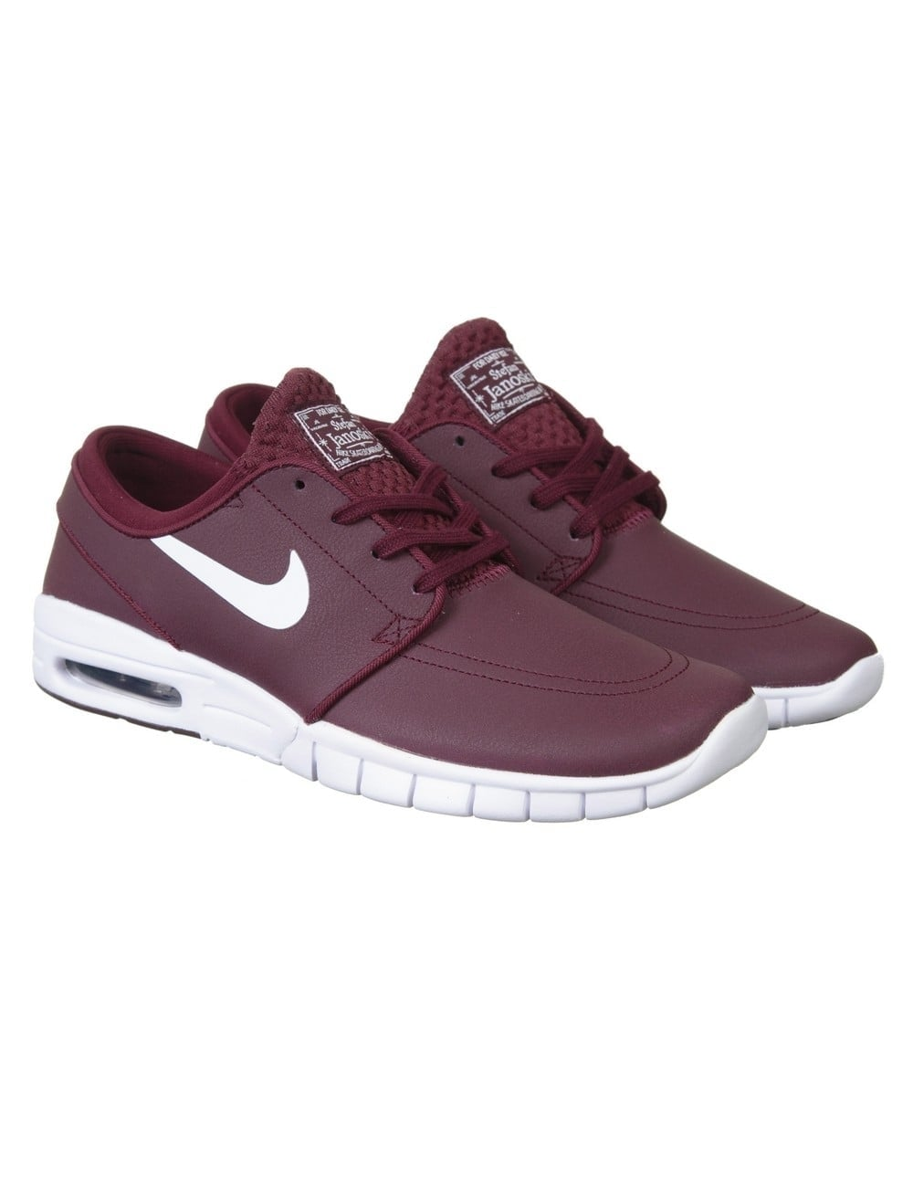 well known new product picked up Stefan Janoski Max Shoes - Night Maroon/White